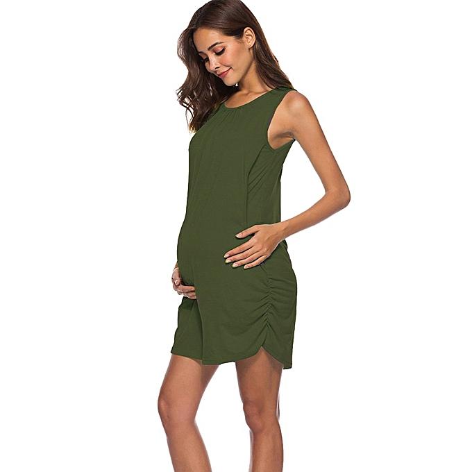 Fashion femmes Mom Pregnant Nursing Baby Maternity Vest Sleeveless Dress Clothes à prix pas cher