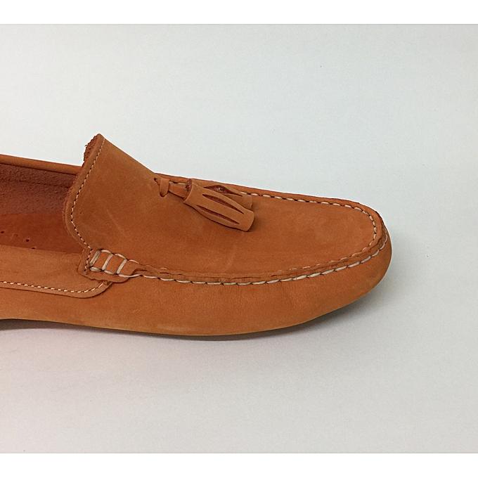 Autre Chaussures Mocassin Mocassin Mocassin - Vrais Nubuck  - Orange à prix pas cher  | Jumia Maroc 45dc85