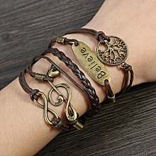 Bracelet PU Alloy Bangle Classic Fashion Adjustable Wristband Wrist Strap  Band a0433e07c76d