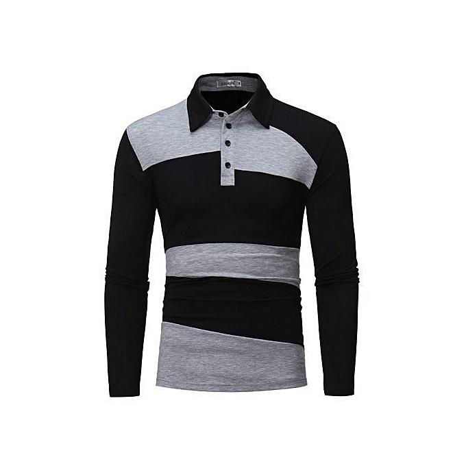 OEM Hommes& 039;s manche longue Polo Shirt rayé Autumn Winter Turn-Down Collar à prix pas cher