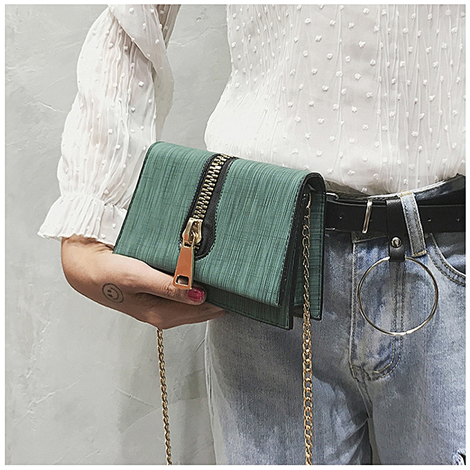 Siketu Wohommes Fashion Large Zipper Handbag Crossbody Shoulder Bags GN-vert à prix pas cher
