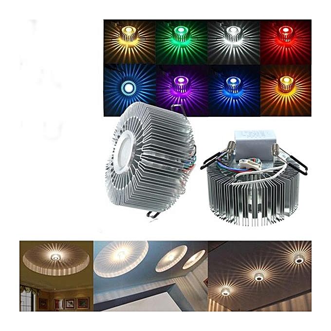 UNIVERSAL 3W LED Aluminum Ceiling Light Fixture Corridor Balcony Pendant Lamp Lighting Chandelier MultiCouleur à prix pas cher