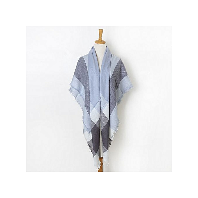 Fashion Fashion Trend femmes Vintage Lattice Fringe Square Long Wrap Shawl Scarf Scarves Stole Cape BU à prix pas cher