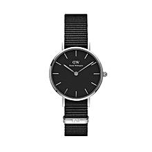 3a780d62c5c4f Daniel Wellington Femme Classic Petite Cornwall Silver & Black - 28Mm  DW00100248
