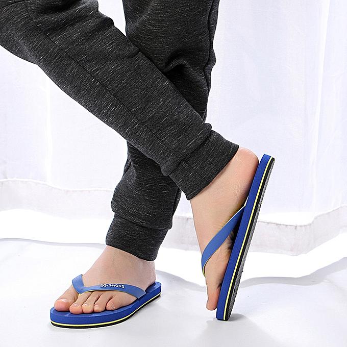 mode été Hommes Anti-SEnfantding Sandals Slipper plage chaussures bleu à prix pas cher
