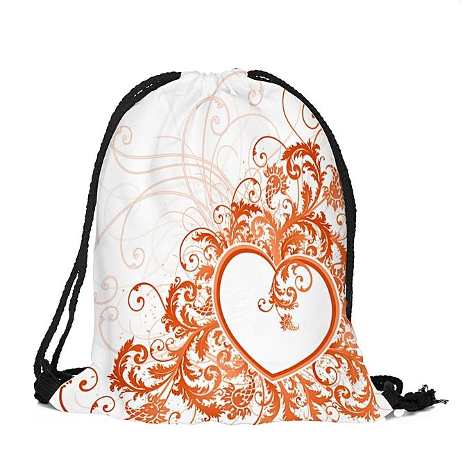mode Tcetoctre Valentine's Day Drawstbague sac Sack Sport Gym voyage de plein air sac à dos sacs  -MultiCouleur à prix pas cher