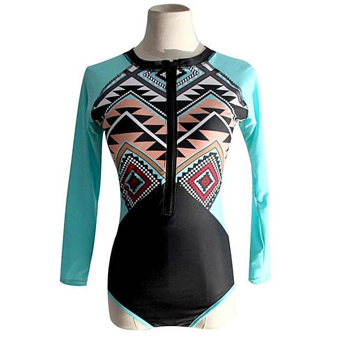 Autre New Padded Swimsuit Rash Guard Long Sleeves Sleeveless Swimwear Rashguard Printed Surf Wear Bodysuit Bathing Suit(Style 3) à prix pas cher