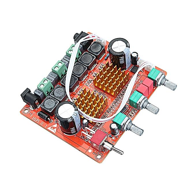 UNIVERSAL DC 12-24V 200W 3 Channel D Class 2.1 Digital Power Amplifier Board High Power Bass Speaker à prix pas cher