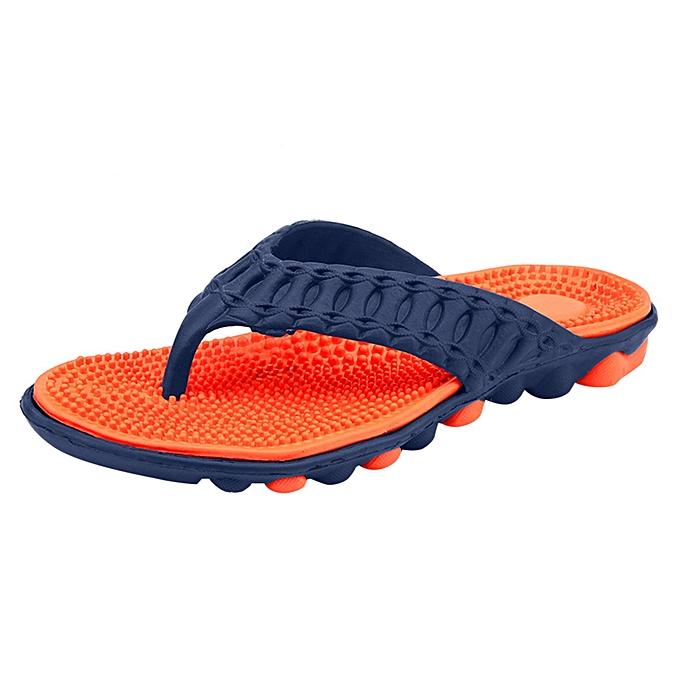 mode jiuhap store Hommes été plage Flip Flops chaussures Sandals Male Slipper Flip-Flops Flat chaussures à prix pas cher