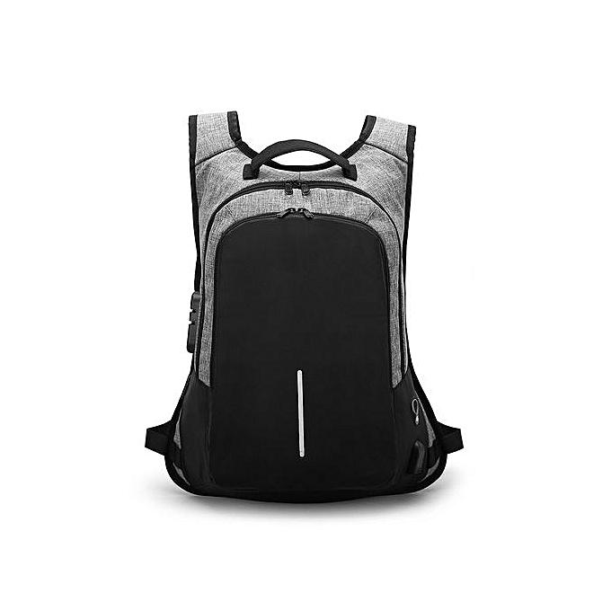 Generic External Charging Sports imperméable Student sac Laptop Backpak GY à prix pas cher