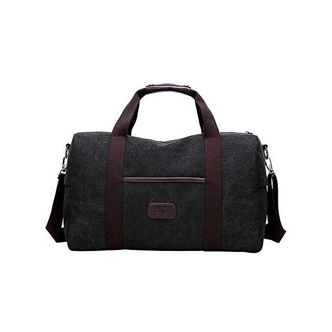 Siketu Men's Wohommes Messenger Shoulder Crossbody Bags Canvas  Travel Tote noir-noir à prix pas cher