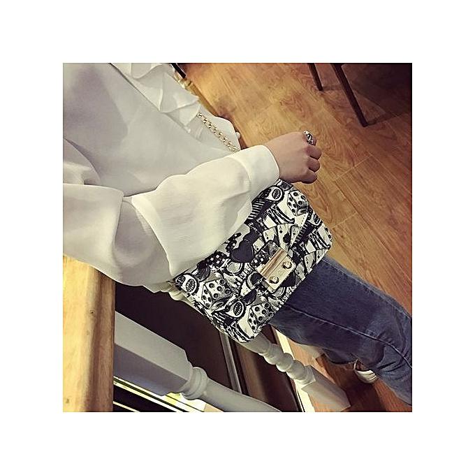 Duoya femmes Fashion Handbag Shoulder Bag Tote Ladies Purse Small Square Bag BK-noir à prix pas cher
