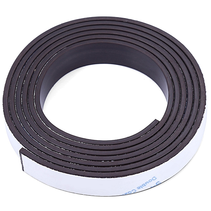 Other 10 x 1.5mm 1m Self-adhesive Flexible Rubber Magnet Strip à prix pas cher