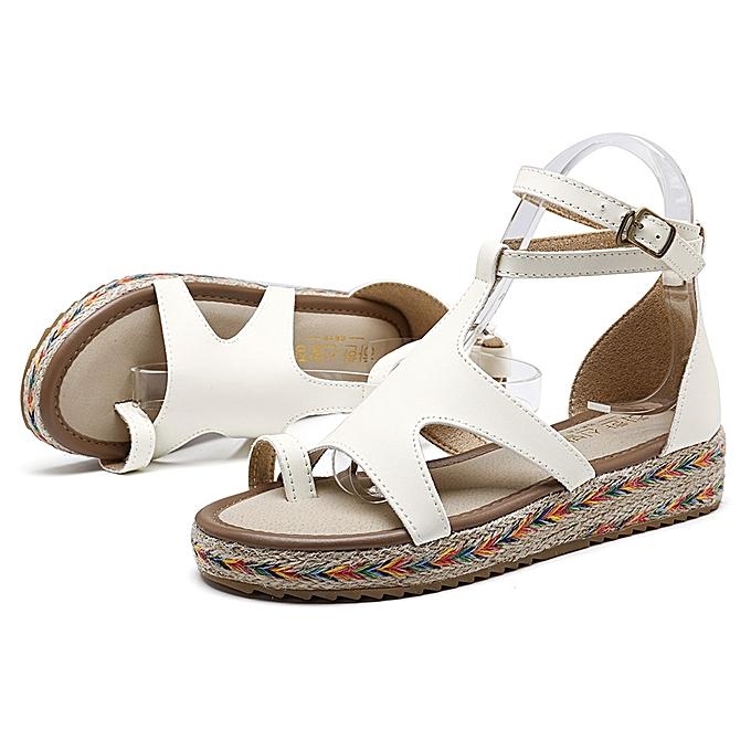Fashion Rohomme Gladiator Sandals Summer Wedges Platform femmes chaussures à prix pas cher