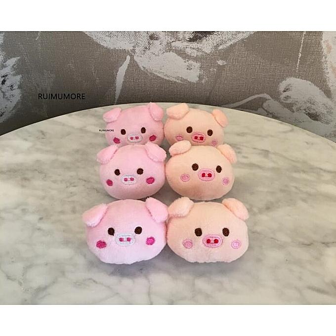 Autre 2Couleurs.  Baby Toys , 4CM Approx. Small Pig Plush Stuffed Toy , Animal Stuffed Dolls , Plush baby education Toy Doll  (Couleur) à prix pas cher