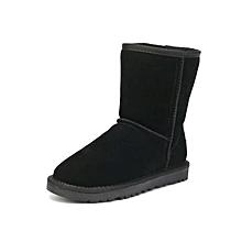 Bottine Haut qualité d  039 hiver Très chic et Confortable - Noir 9f6d0c93a5fa