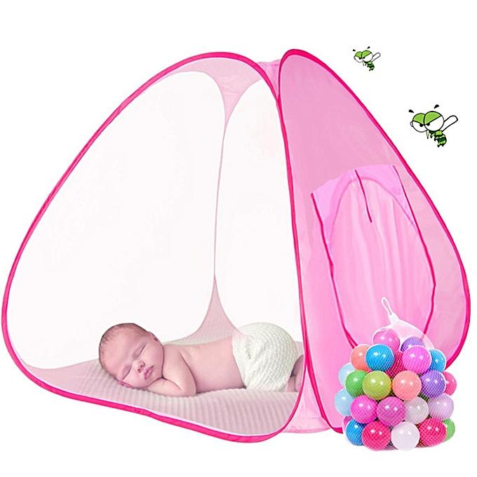 UNIVERSAL Foldable Enfants Polka-Dots Big Toy House Pop Up Play Tent Ball Pit Play Game Pool à prix pas cher