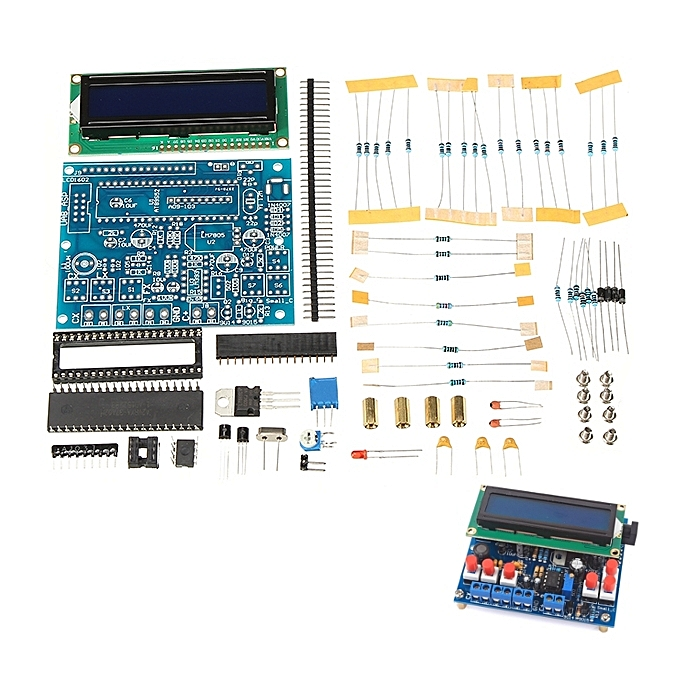 UNIVERSAL DIY Multifunctional LCD1602 SecOhmmeter Capacitance Inductance Frequency Tester Meter Kit à prix pas cher