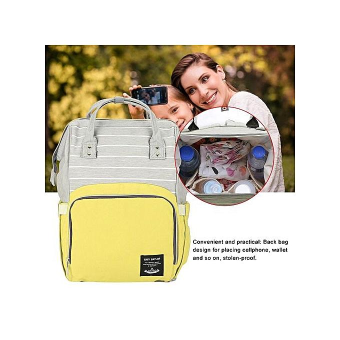 Other Multifunctional Diaper sac  my sac à dos Handsac grand capacité (jaune Stripe) à prix pas cher
