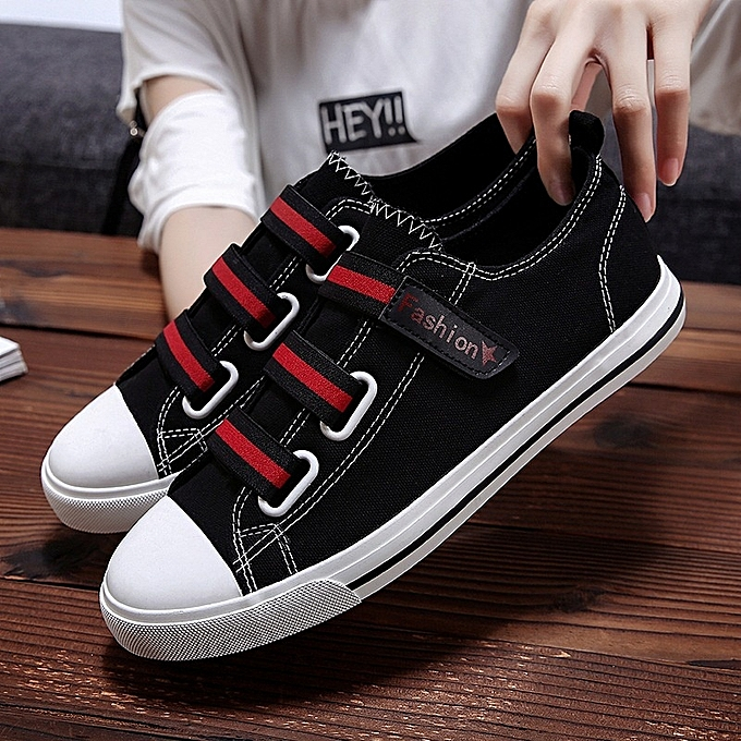 Other Student Flat paniers Hommes's respirant toile chaussures -noir rouge à prix pas cher