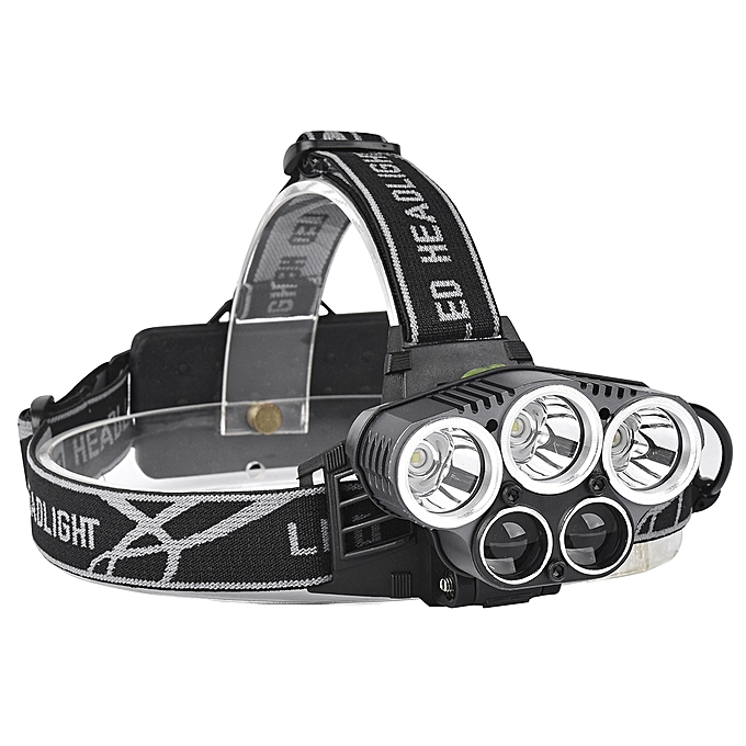 UNIVERSAL XANES 2309-B Bicycle Headlight 5 Switch Modes T6+2XPE bleu Light Outdoor Sports HeadLamp à prix pas cher