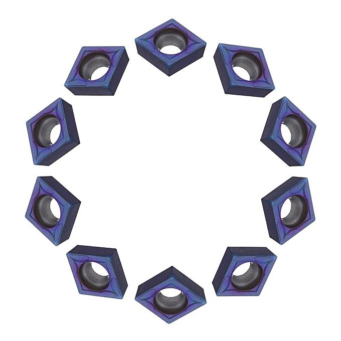 UNIVERSAL Drillpro 10pcs HRC45 bleu Nano CCMT09T304 VP15TF Carbide Insert for SCLCR SCLCL Turning Tool Holder à prix pas cher
