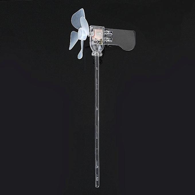 UNIVERSAL rouge vert blanc bleu vertical DIY Small Dc Motor LED Windmill Turbines Wind Generator Model à prix pas cher