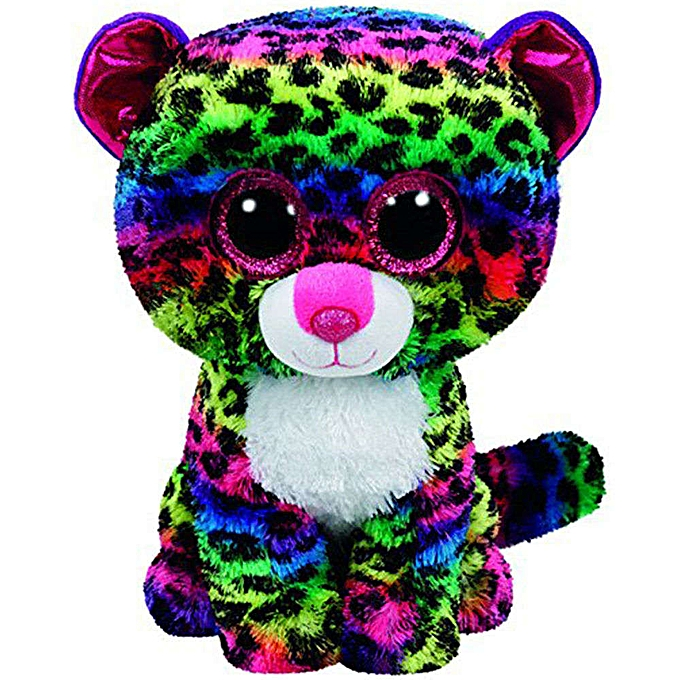 Autre Ty Beanie Boos 6  15cm Mummy Owl Fish Bear Penguin Turtle Monkey Plush Big eyed Stuffed Animal Doll Toy with Heart Tag(Dotty Leopard) à prix pas cher