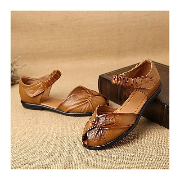 Fashion SOCOFY Fashion Fish Mouth Elastic Hook Flat Loop Slip On Flat Hook Sandals Loafers Shoes-EU à prix pas cher  | Jumia Maroc 5ed331