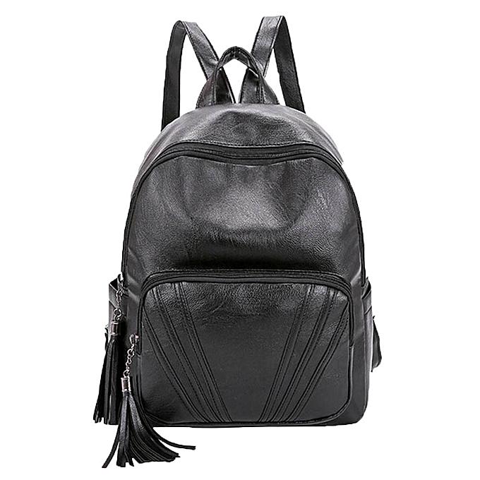 Fashion Xiuxingzi femmes Casual Backpack Tassels Bags School Shoulder Bag Rucksack Bags Satchel à prix pas cher