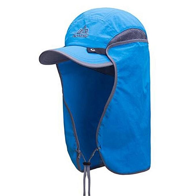 AONIJIE Men femmes Sports Caps Cycling Camping Running Hiking Fishing Hat Outdoor Hat Travel Foldable Sun Caps UV Sun Prougeection(bleu) à prix pas cher