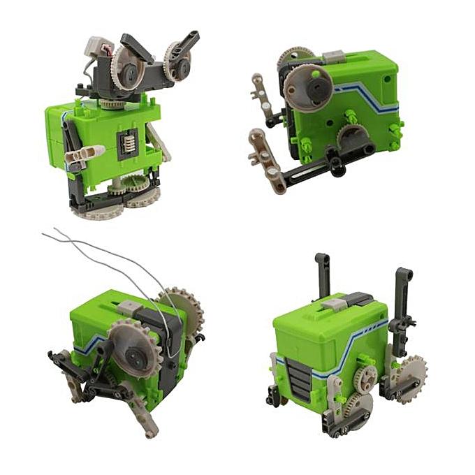 Generic DIY Four In One Electric Robot JT-002 Puzzle Assembled Robot Toys à prix pas cher