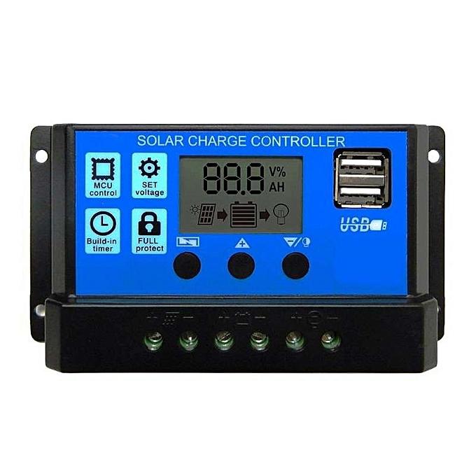 OEM New 10A PWM LCD display Dual USB Panneau Solaire Battery Régulateur Charge  Contrôleur à prix pas cher