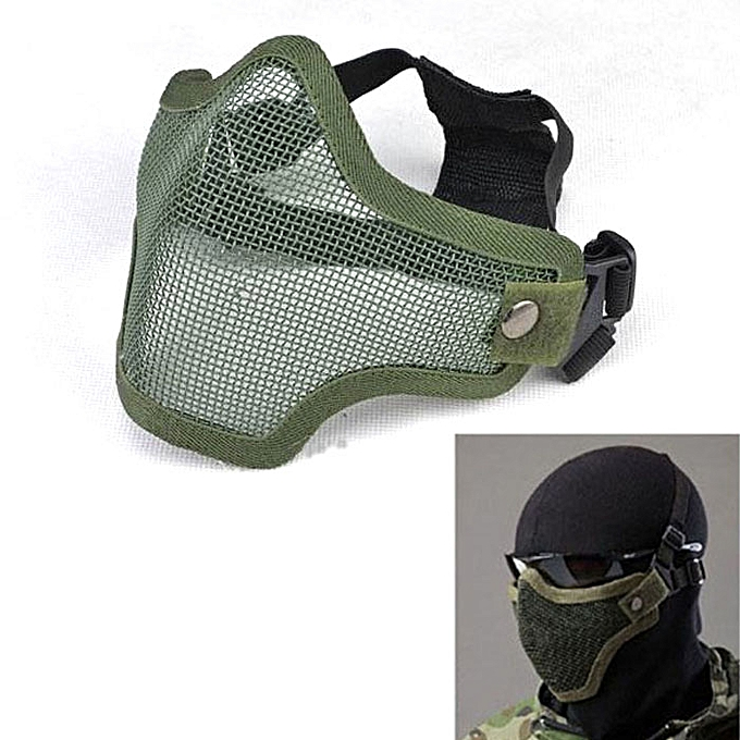 GENERAL yingwaias Strike Metal Mesh Prougeective Mask Half Face Tactical Airsoft Military Mask GN à prix pas cher