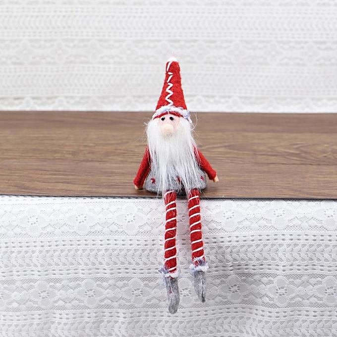 UNIVERSAL Wool Christmas Santa Claus Deer Snowhomme Doll Enfants Gifts Home Decoration OrnaHommest Old trumpet à prix pas cher