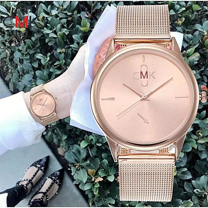 1bbdbd56b CMK ساعة يد مع علبة هدية للنساء الأنيقات ، كوارتز أنالوج - برونز ...