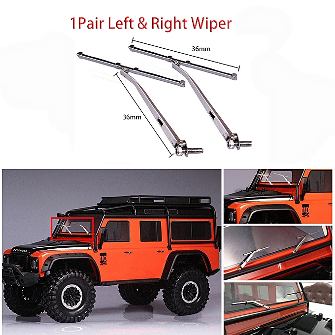 Generic Left & Right Metal Windshield Wiper For 1 10 Traxxas TRX4 Land Rover Decoration à prix pas cher