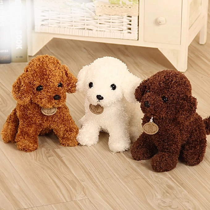 Autre 18 25 cm Simulation Teddy Dog Poodle Plush Toys Cute Animal Suffed Doll  for Christmas Gift(1) à prix pas cher