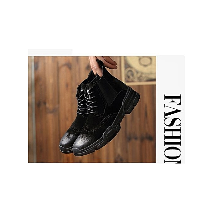Fashion New New Fashion Leather Over d  's Boots Brock's Sculpted Chelsea  's Boots à prix pas cher    Jumia Maroc ca981f