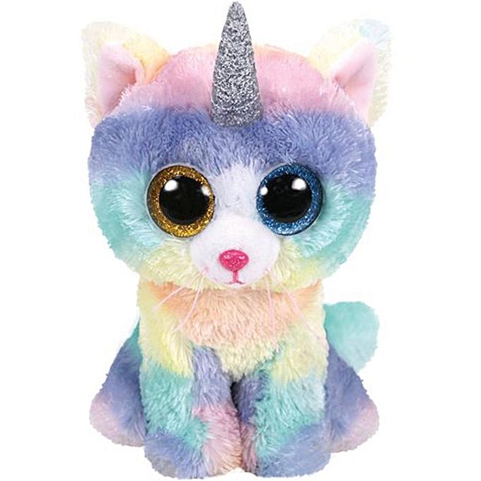 Autre Ty Beanie Boos 6  15cm Cat Quinn Potion Zip Firecracker Heather Cleo Jinxy Scrappy Kit Plush Stuffed Animal Doll Toy(Heather Cat) à prix pas cher