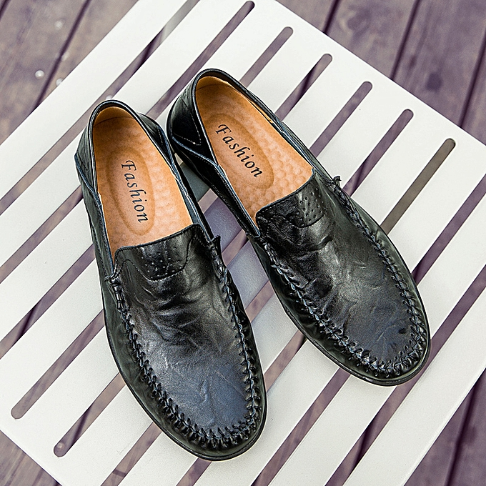 Fashion Men's Casual Leather chaussures Driving Loafers Peas Penny Moccasins Slip on Flats à prix pas cher