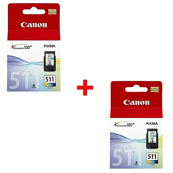 Canon 2 - Cartouche 511 Couleur Originale à prix pas cher