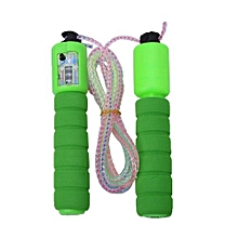 Adjustable PVC Accurate Count Jump Rope With Comfortable Anti-slip Handles (green)