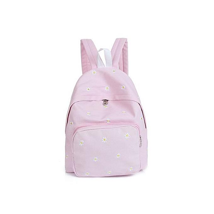 Fashion Correponde Flower Embroidery Canvas Shoulder Bag Schoolbag DB à prix pas cher