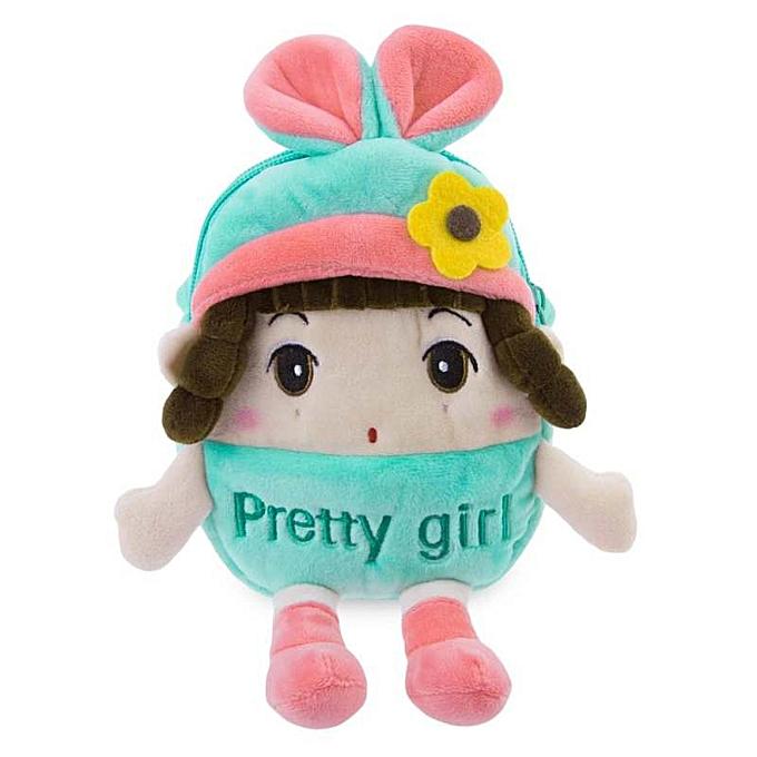 Fashion Sweet Multifunctional Stuffed Cartoon Design Zipper Change Purse for Girls à prix pas cher