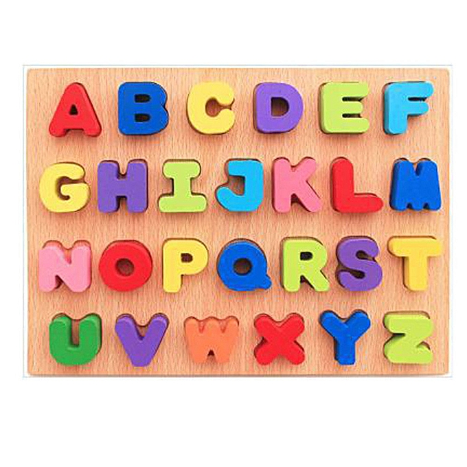 Generic boisen Enfants Numbers and letters Jigsaw For  Education And Learning Puzzles Toy à prix pas cher