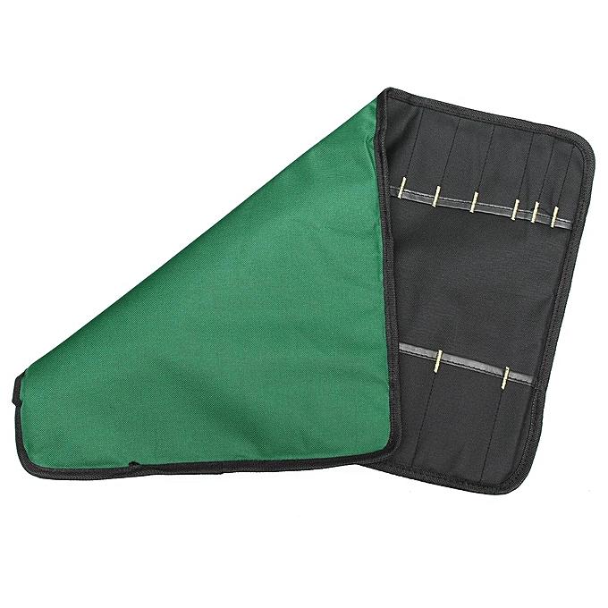 UNIVERSAL 22 Pockets Hardware Tools Roll Case bag Plier Screwdriver Spanner Pouch Toolkit vert à prix pas cher