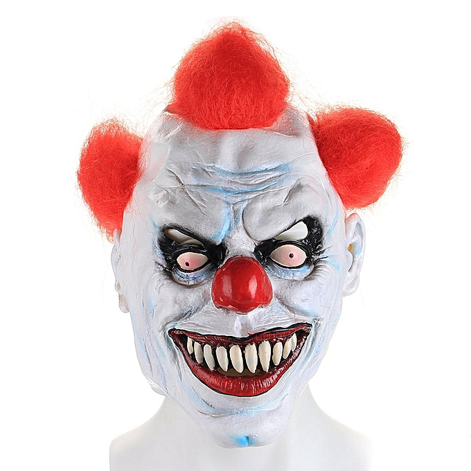 UNIVERSAL Scary Clown 3 4 Mask Evil Circus Halloween Fancy Dress Costume Accessory à prix pas cher