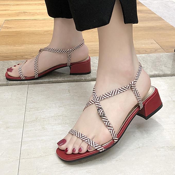 mode (Xiuxingzi) femmes High Heel  chaussures Belt Buckle Sandals été Open Toe Sandals Rohomme Sandals à prix pas cher