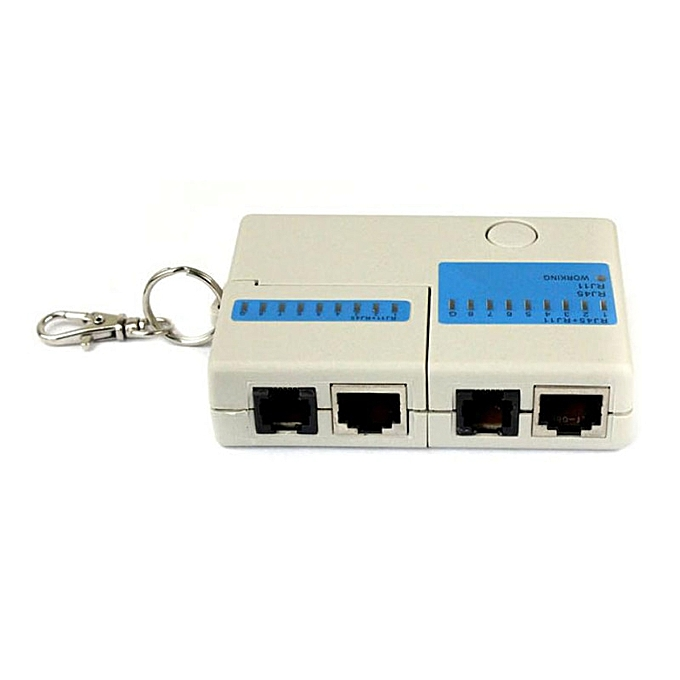 Other Hot selling New Pocket LED Ethernet 4 Port RJ45 RJ11 Cat5 Network LAN Cable Tester With Keychain à prix pas cher